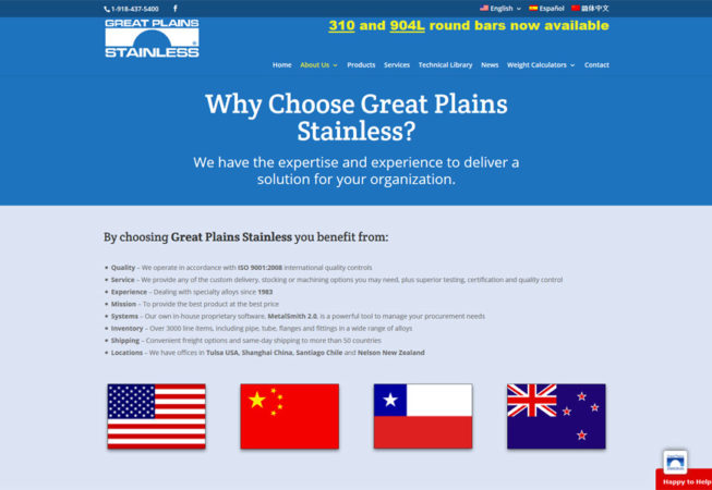 Great Plains Stainless - pourquoi GPS ?