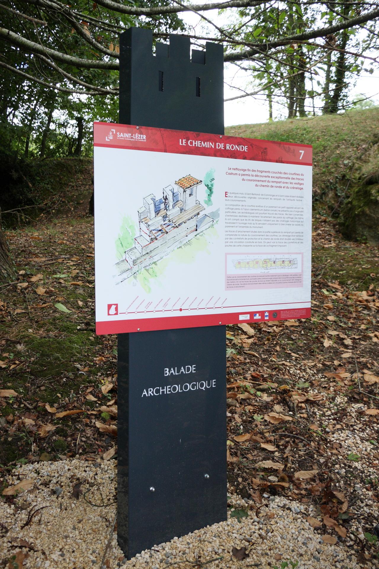 Saint-Lézer : panneau 7