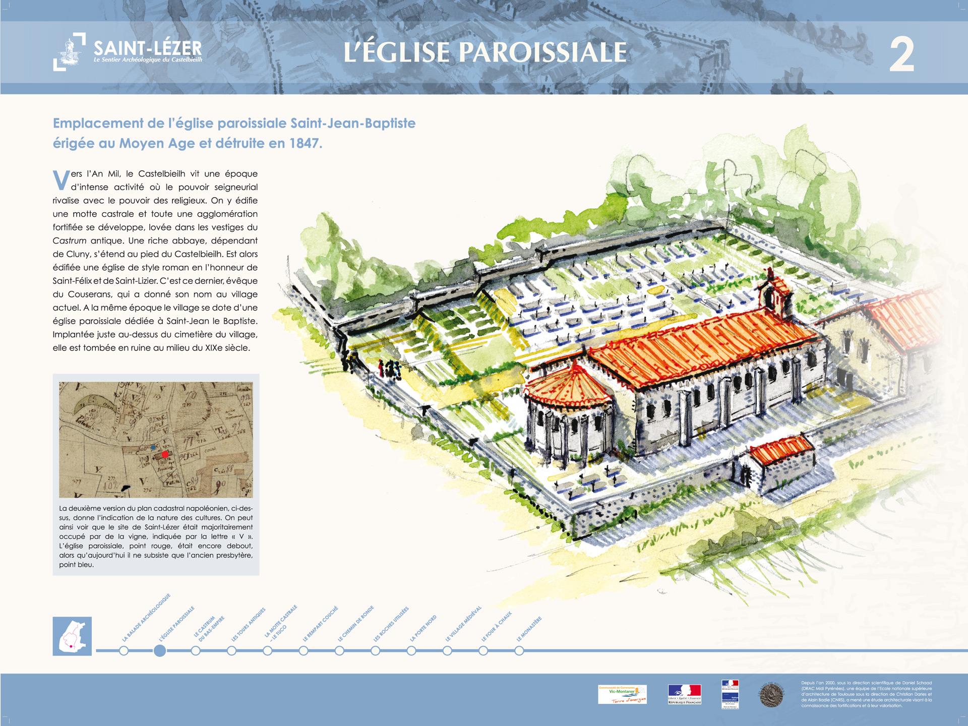 Saint-Lézer : panneau 2
