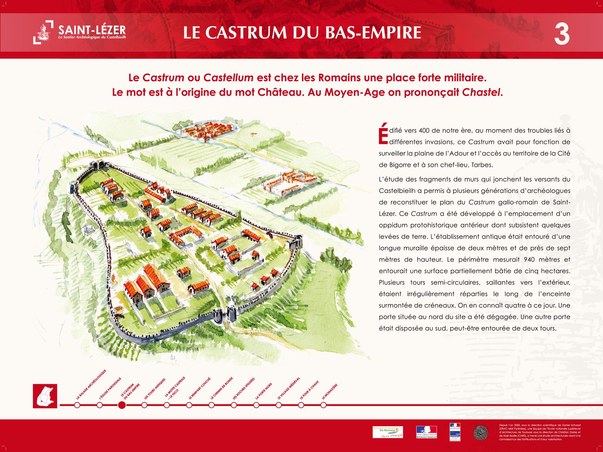 Saint-Lézer : panneau 3