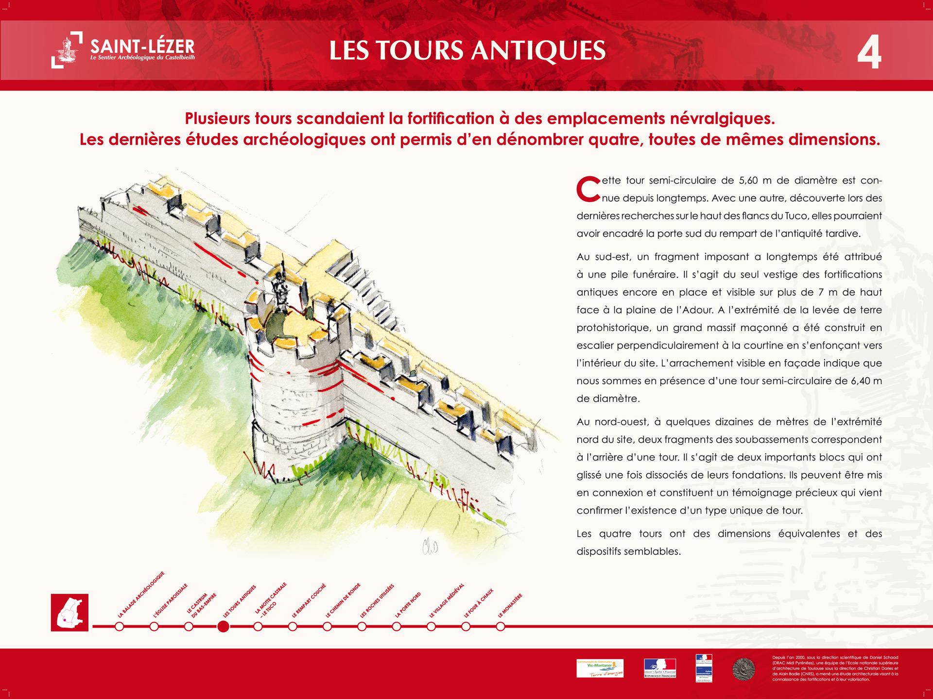 Saint-Lézer : panneau 4