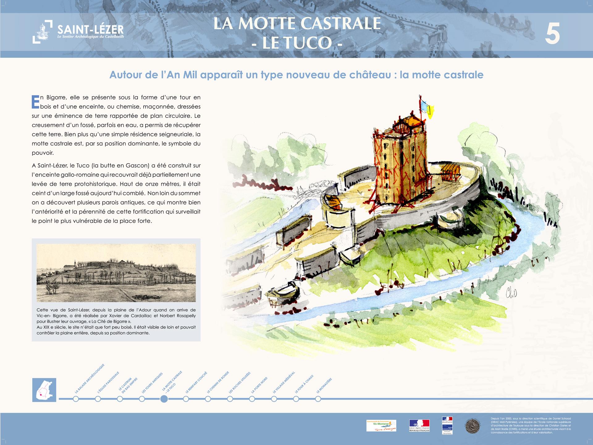 Saint-Lézer : panneau 5