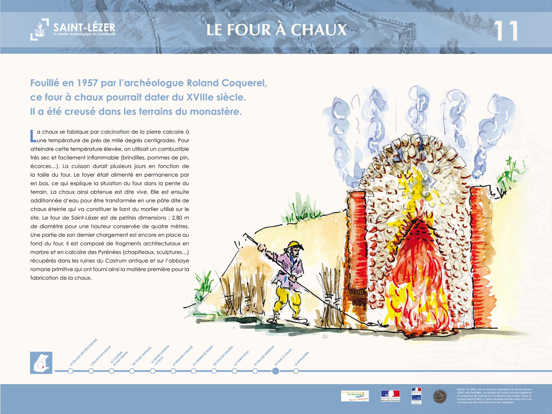 Saint-Lézer : panneau 11
