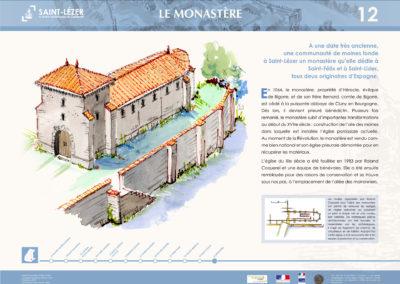 Saint-Lézer : panneau 12