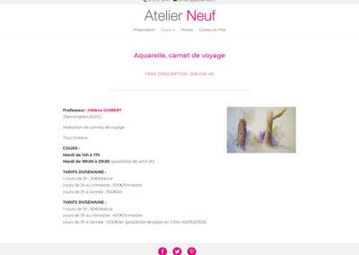 Atelier Neuf - aquarelle et carnet de voyage