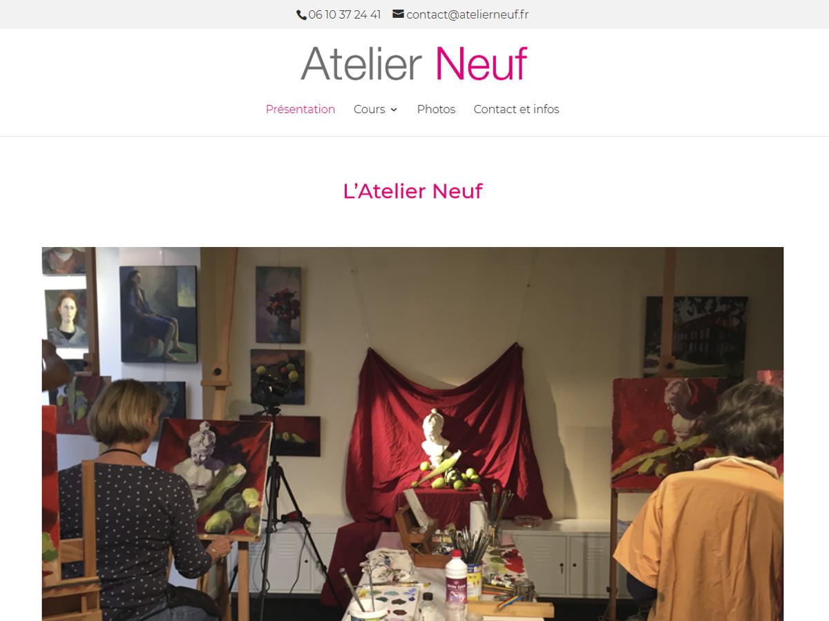 Accueil du site Atelier Neuf