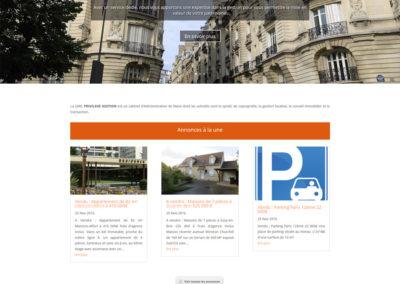 Privilège Gestion - page d'accueil du site Internet
