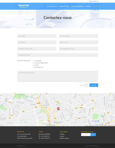 ERGOFFICE - page contact