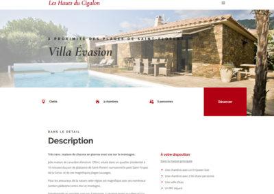 Les Hauts du Cigalon - page villa