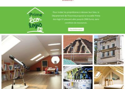 Concept Habitat Sûr - page d'accueil