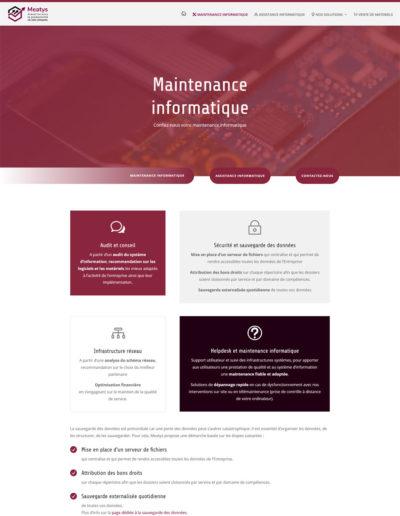 Meatys - page maintenance informatique