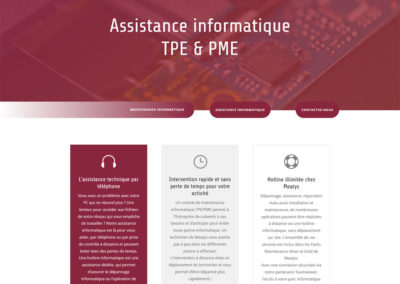 Meatys - page assistance informatique