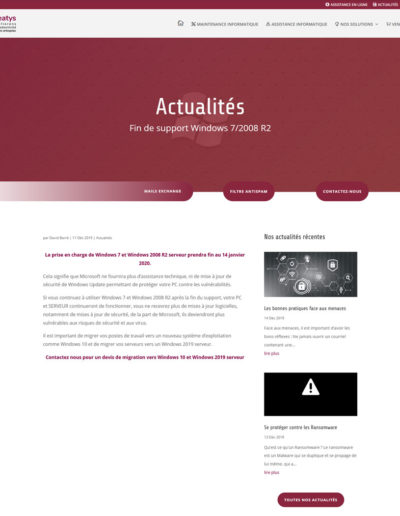 Meatys - page article actualité