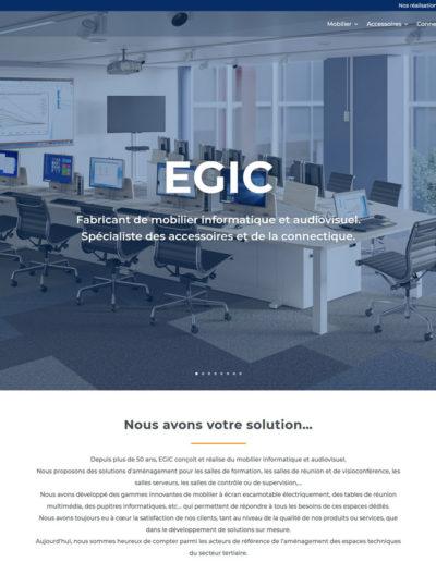 EGIC Solutions - page d'accueil