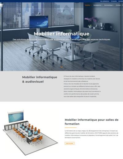 EGIC Solutions - page mobilier informatique
