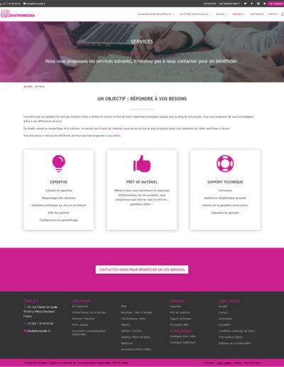 Distrimédia - page services