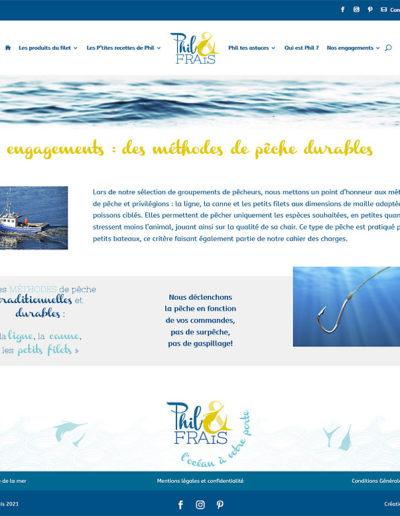Phil & Frais - un engagement sur la pêche durable