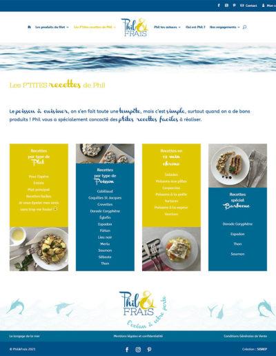 Phil & Frais - les recettes